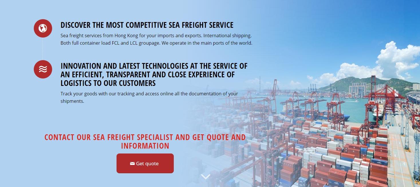 Sea freight in Hong Kong   TIBA